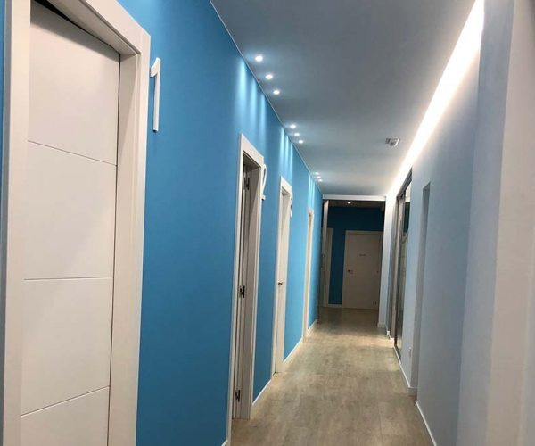 pasillo clínica fisioterapia Zaragoza